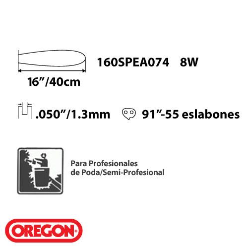 Barra Guia Espada + Cadena Oregon P/ Motosierra Stihl 180