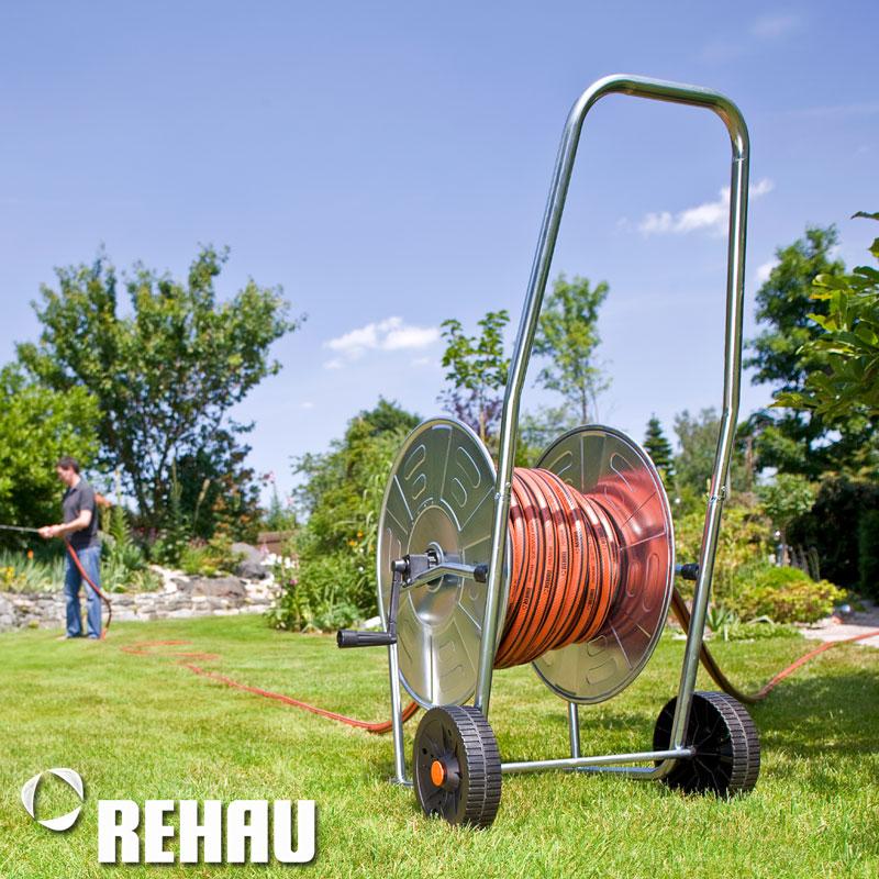 Rehau manguera carro premium de metal para 50m manguera de jardín