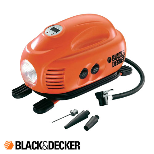 Inflador Compresor Digital Automático 12 V Black And Decker ASI 200