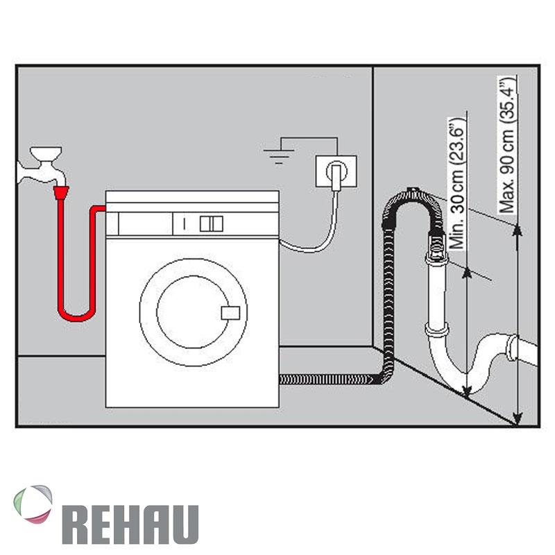 Manguera de carga Rehau PVC para Lavarropa o lavadero