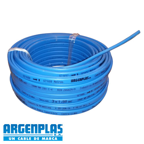 Cable Vaina Plana Para Bomba Sumergible 30M 3X1,5MM