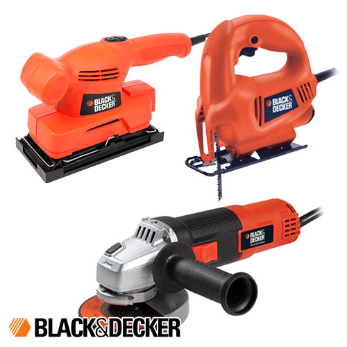 Combo Black And Decker Amoladora G720N + Lijadora CD455 + Sierra Caladora KS410