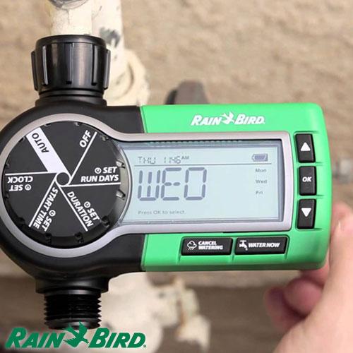 Programador de Riego Rain Bird Digital Para Canilla A Bateria