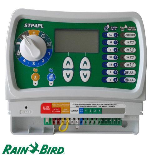 PROGRAMADOR DE RIEGO RAIN BIRD AUTOMATICO STP 4 ESTACIONES / ZONAS PLUS 230V