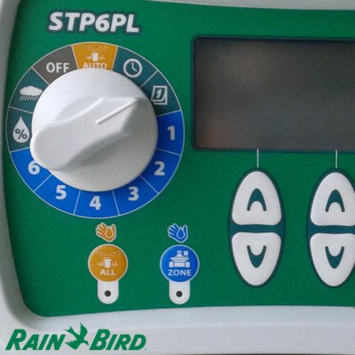 PROGRAMADOR DE RIEGO RAIN BIRD AUTOMATICO STP 6 ESTACIONES / ZONAS PLUS 230V