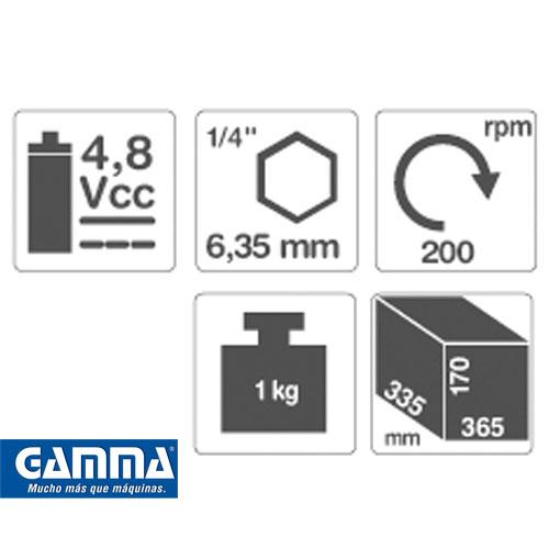 Atornillador Eléctrico a Batería Gamma HG011