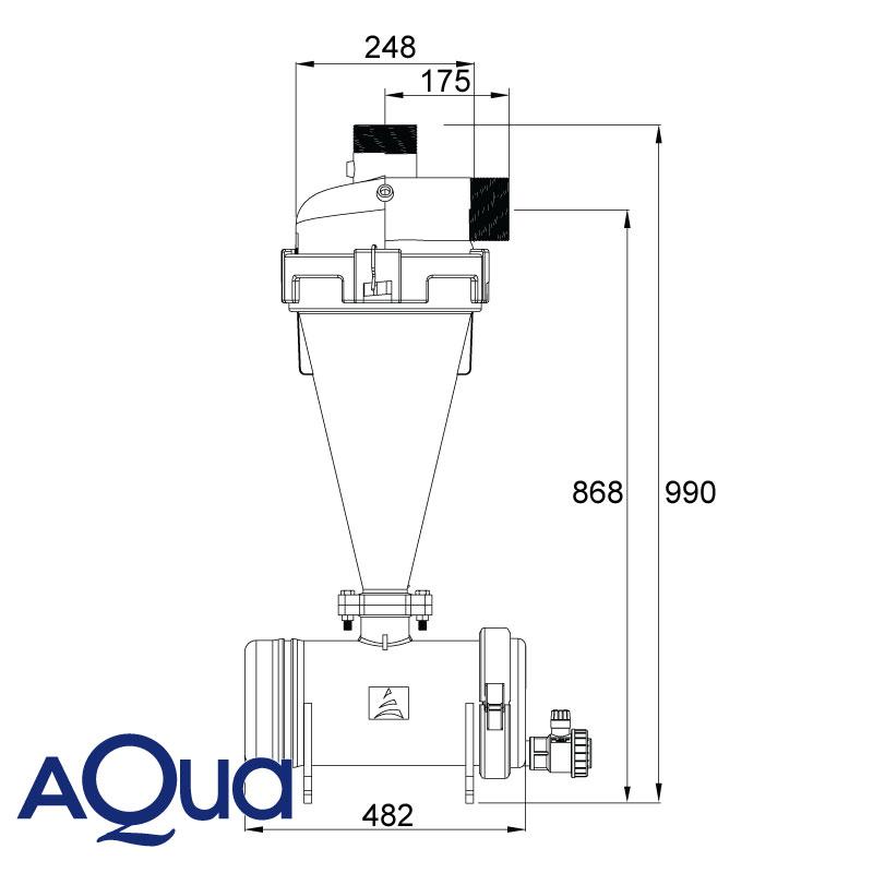 Filtro Riego Hidrociclon Aqua 3
