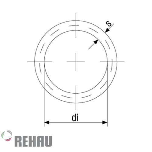Rehau Rollo de manguera Raufilam Roja DN 12 x 50 mts