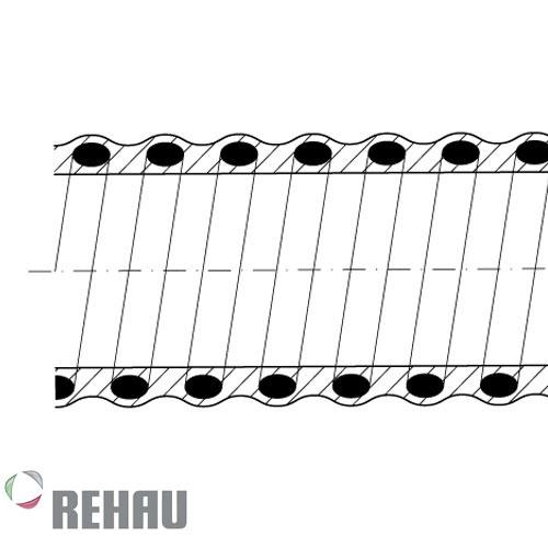 Rehau Rollo de manguera Rauspiraflex L2 38/3.5 x 50 mts