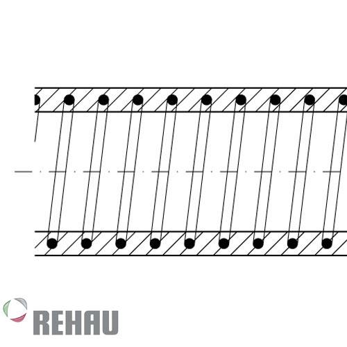 Rehau Rollo de manguera Rauspiraflex M c/e.acero 10/2.8 x 50 mts
