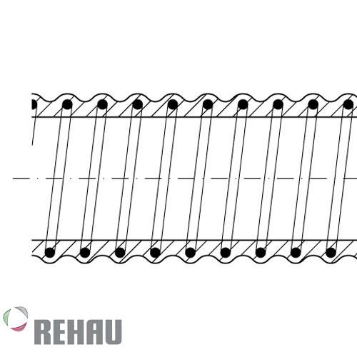 Rehau Rollo de manguera Rauspiraflex H2 Cristal 38/3.5 x 25 mts