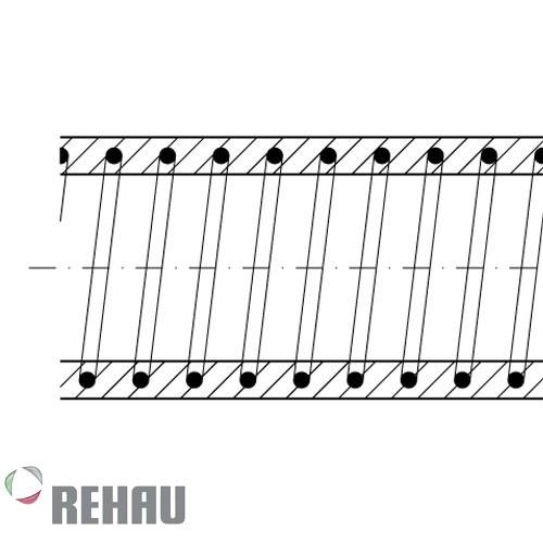 Rehau Rollo de manguera Rauspiraflex Vitivinicola Plus 45/5.0 x 50 mts