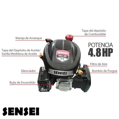 1 - Motor Cortacesped Eje Vertical Sensei Mev48 140cc Ohv 4 8 Hp