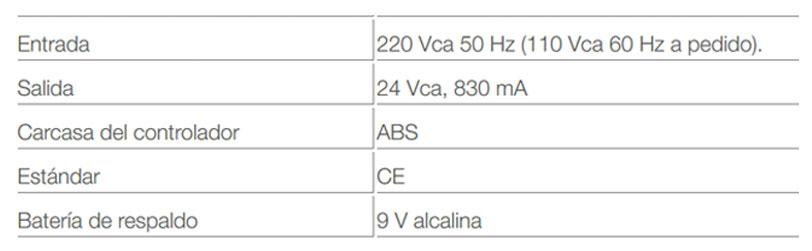 Programador Riego Galcon Computarizado 4 Zonas 24 - 230 Vac