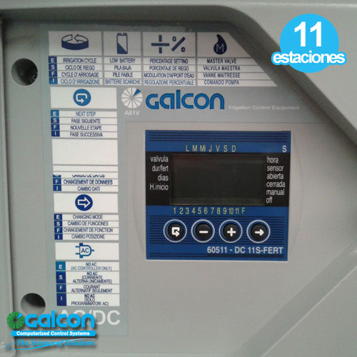 Programador Riego Galcon 11 Zonas + Valvula De Fertilizacion