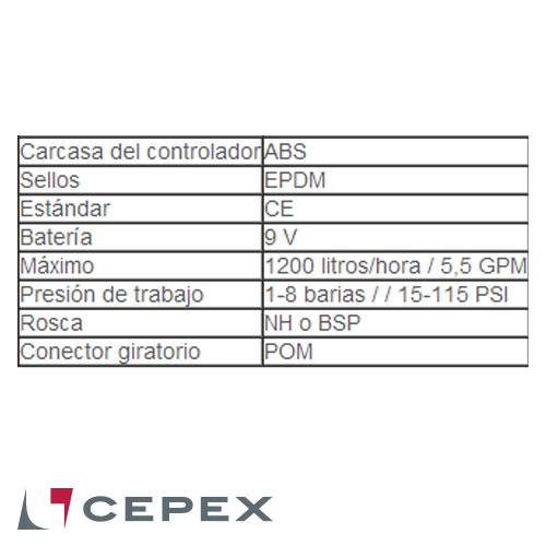 PROGRAMADOR ANALÓGICO DE CANILLA CEPEX CTA075