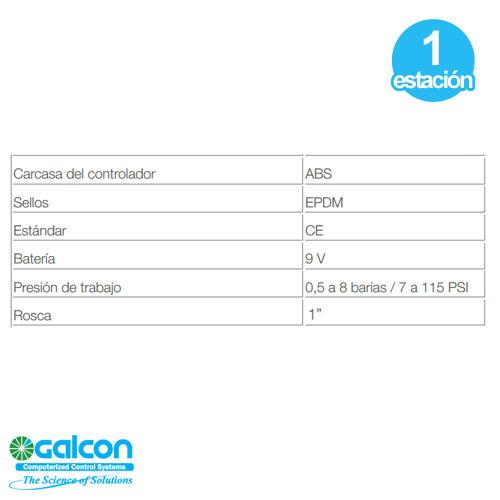 Programador Digital Riego Valvula 1'' Bateria 9v Galcon 7101