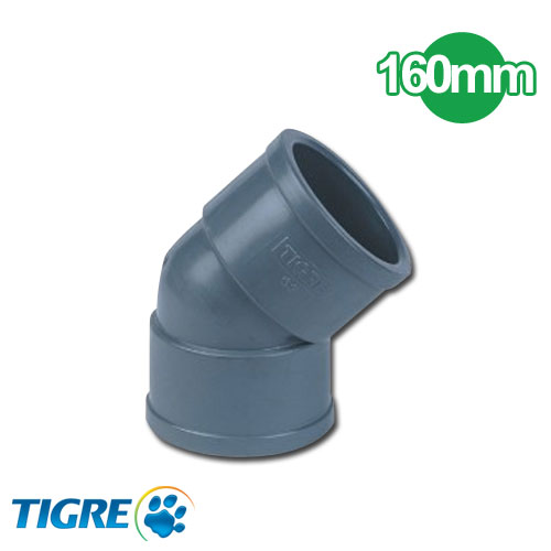 CODO 45º PVC SOLDABLE 160mm