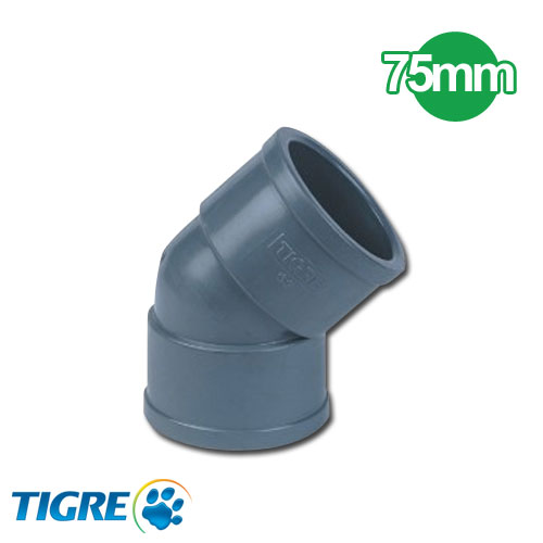 CODO 45º PVC SOLDABLE 75mm