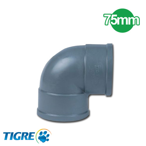 CODO 90º PVC SOLDABLE 75mm