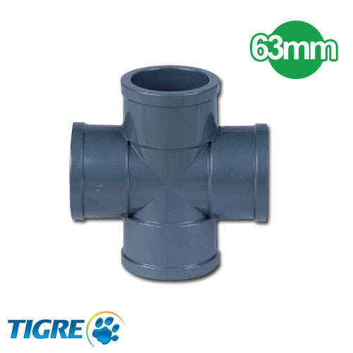 CRUCETA PVC SOLDABLE 63mm