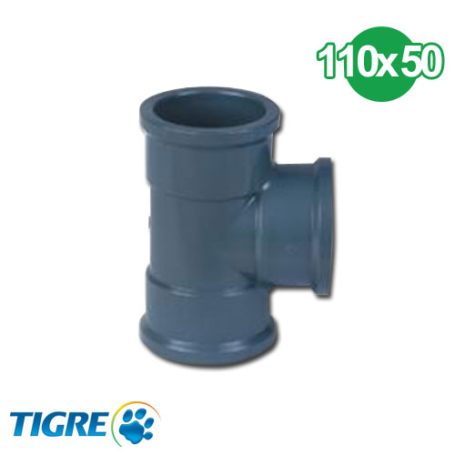 TEE REDUCCIÓN PVC SOLDABLE 110 x 50mm