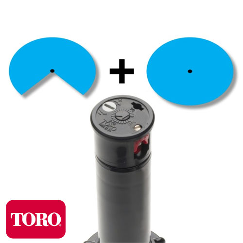 ASPERSOR ROTOR DE RIEGO TORO MINI 8 ARCO AJUSTABLE RADIO 6M A 10M