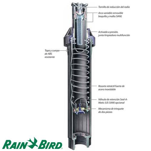 TOBERA RAIN BIRD RIEGO US410 BOQUILLA S18 RADIO 4.3 x 5.5 MT